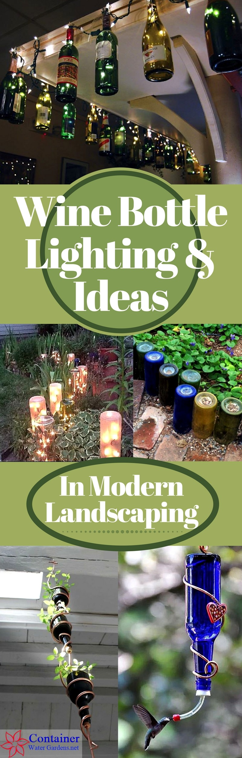 Wine Bottle Lighting & Ideas In Landscaping