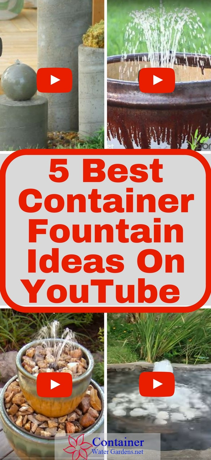 5 Best Container Fountain Ideas on YouTube