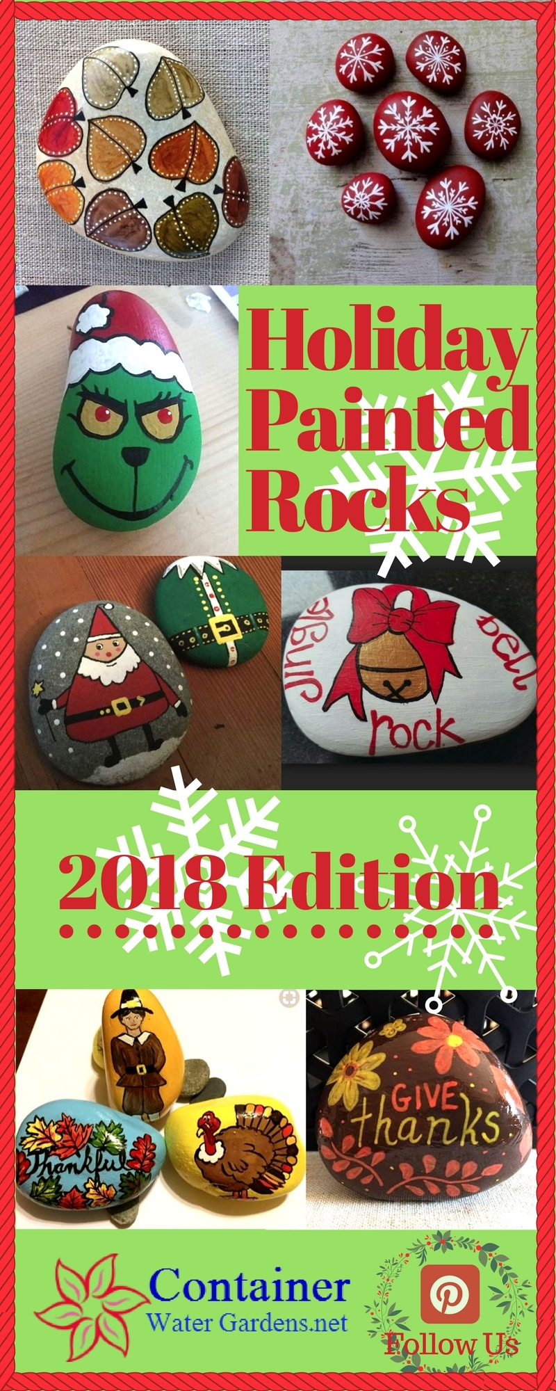 Holiday Painted Rocks 2018