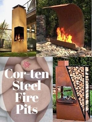 Cor-ten steel fire pits