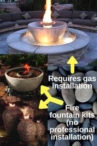 Fire fountain kits