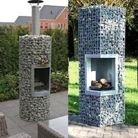 Gabion fire pits