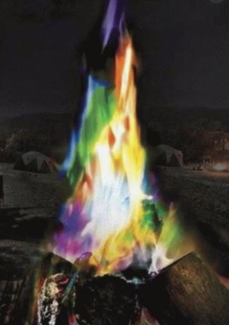 Colored flame packets