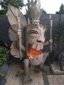 Polynesian Backyard Fire Pit