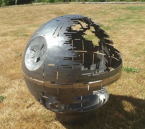 Death Star steel fire pit