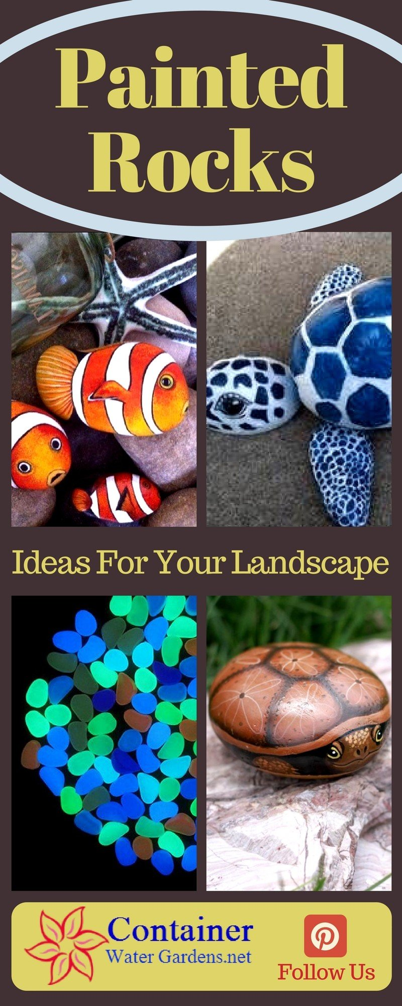 Painted rock ideas for the garden container water gardens - Painting rocks for garden what kind of paint ...