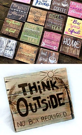 Garden signs made from pallets