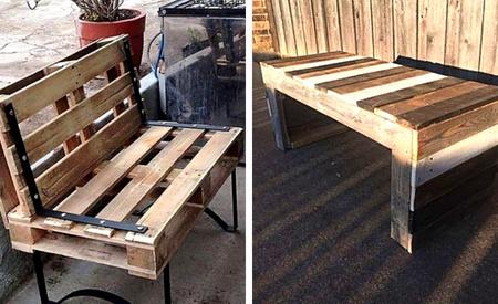 Pallet bench seats