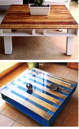 Patio coffee tables made with pallets