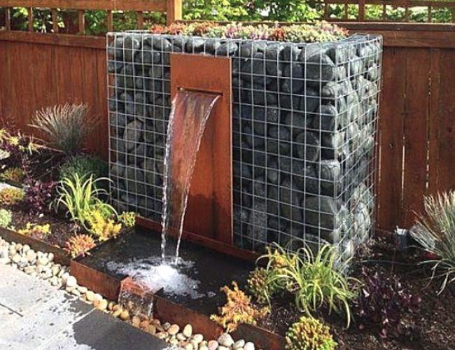 Gabion fountain