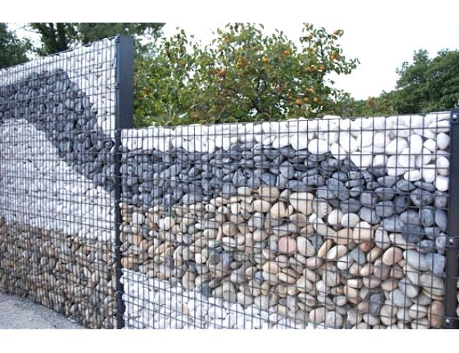 Gabion privacy fence